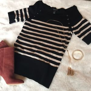 White House Black Market Sparkly Sweater! 🌲❤️
